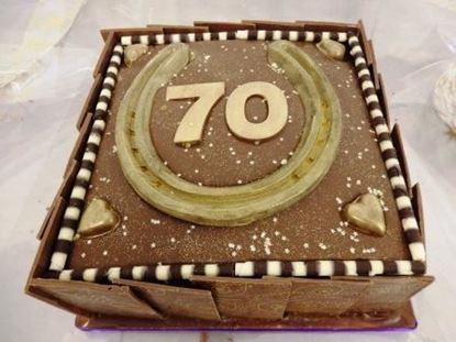 Picture of Domino Birthday Cake
