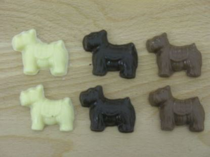 "Picture of Chocolate ""Scottie"" Dogs"