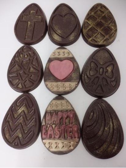 Decorated Easter Egg shaped Plaques